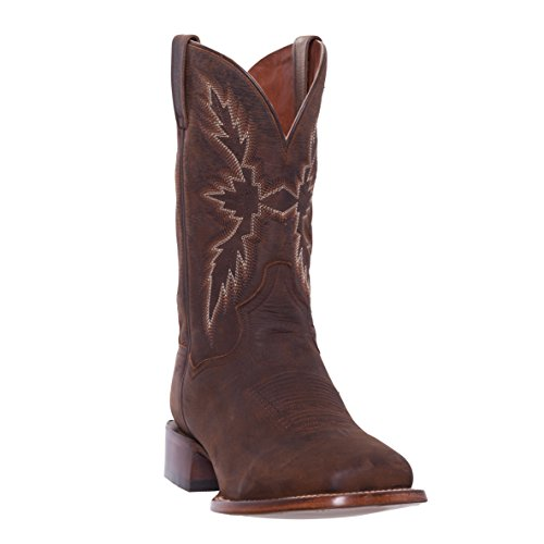 Silver Canyon Mens Renegade Distressed Brown Square Toe Western Roper Cowboy Boot,Distressed Brown,10.5 D(M) US