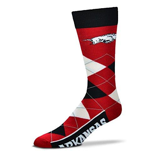 NCAA Arkansas Razorbacks Argyle Unisex Crew Cut Socks - One Size Fits (Arkansas Razorbacks Football Stadium)