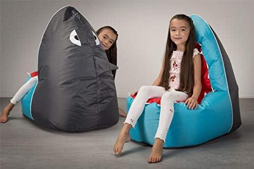 Big Bertha Original, SmartCanvas Haai Grote Zitzak voor Kinderen, Aqua