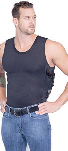 AC Undercover Men's Compression Concealment Tank Top Shirt Concealed Tactical Clothing CCW Ref. 513 (BLACK, X-LARGE)