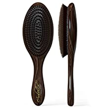 100% Natural Boar Bristle Hair Styling Brush -Classic Looking, Oval Shaped, Best Used for Short or Long Hair, Beards, Fades and Pompadors, - Soft Bristles-professional Salon Quality- For Men and Women- Light Weight- Canadian Design. Buy Now, Lifetime Guarantee.
