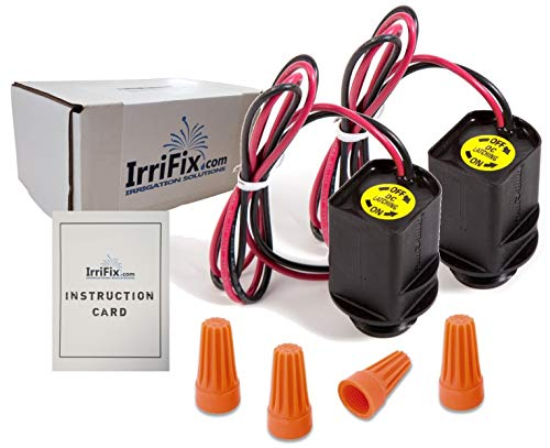IrriFix Box Set - 2 Pack Rain Bird TBOS Solenoids - RainBird Model TBOSPSOL Potted Latching DC Power Solenoids - Complete with Wire Connectors and Instruction Card