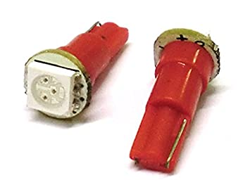 bombillas Led T5 W1,2W 1 Smd 12V color red rojo Luces del tablero e Instrumentación: Amazon.es: Coche y moto
