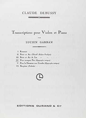 (Pour Invoquer Pan Vl-Piano)