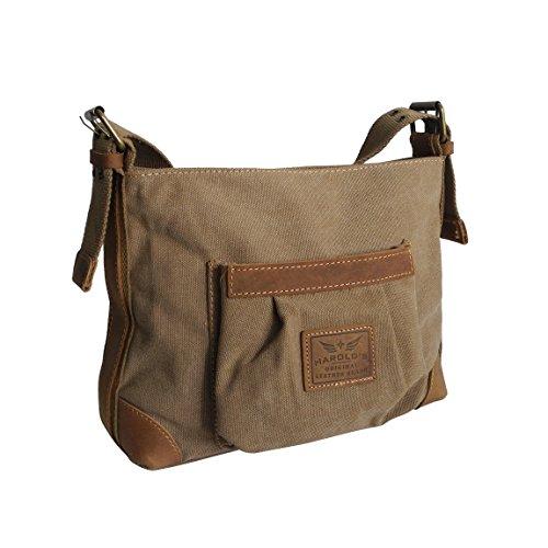 Canvas Jeans Tasche von Harolds - kleinere Damentasche , Shopper ,  Umhängetasche , Vintage Handtasche ,