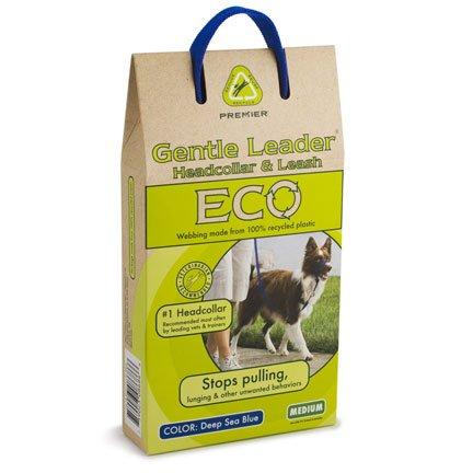 Premier ECO Gentle Leader Head Dog Collar, Medium, Deep Sea Blue, My Pet Supplies