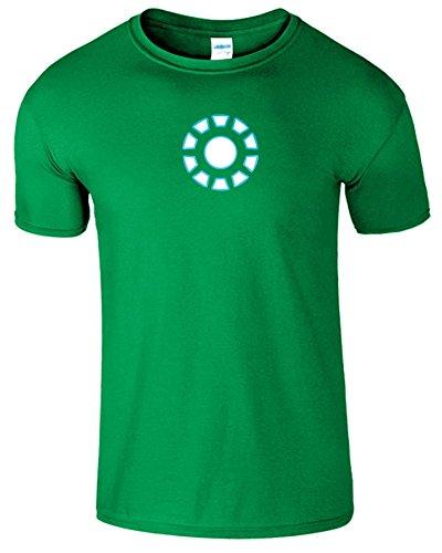 """SNS Online Irish Grün - S - Brustumfang : 34"""" - 36"""" - Iron Man Arc Reactor Frauen Der Männer Damen Unisex T Shirt"""