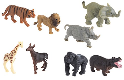 Safari Ltd. Good Luck Minis - Wild Fun Pack - Realistic Hand Painted Miniature Toy Figurine Models - Quality Construction from Safe and BPA Free Materials - for Ages 5 and Up
