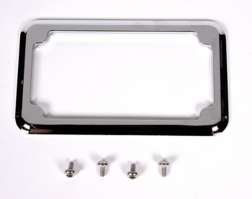 CycleVisions Chrome Beveled License Plate Frame CV-4615