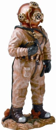 New Commercial Diver Statue with Mark V Hard Hat Helmet