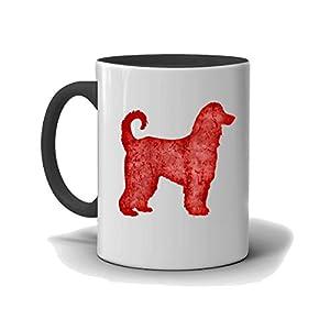 Afghan Hound Custom Dog Mug, Black and White Mug, I Love My Afghan Hound 12