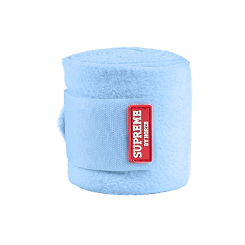 (HORZE Polo Anti Pilling Fleece Bandages, Light Blue)