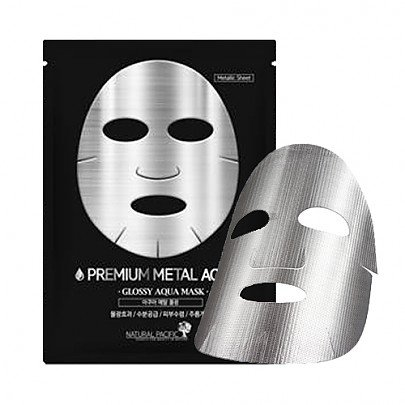 Natural Pacific Premium Metal Mask X 10 Silver Coating Sheet  Aqua  25 Gram