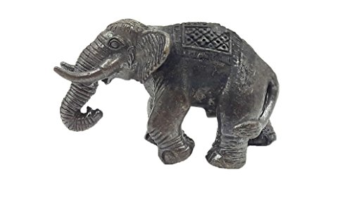 Elephant sculptures statue antique wealth rich Thai traditional with amulet gift (King Neptune Wig)