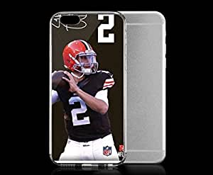 Light weight with strong PC plastic case for iphone 5c Sports & Collegiate NFL Cleveland Browns Johnny Manziel Player Action