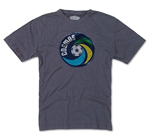 Red Jacket New York Cosmos NASL Men's Brass Tacks Distressed Logo T-Shirt -