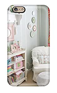 Hot Cottage Style Girls Bedroom With Plate Collage On Wall First Grade Tpu Phone Case For Iphone 6 Case Cover