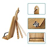 Soligt Cookbook Stand Adjustable iPad Tablet Holder Rustic Wood Cutting Board Style