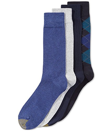 - Gold Toe Mens Argyle Calf Dress Socks Navy 10-13