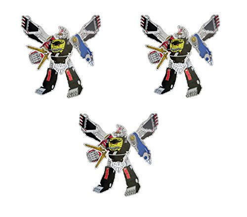 3 Jumbo Power Rangers Megazord Jointed Cutout - Party Decorations]()