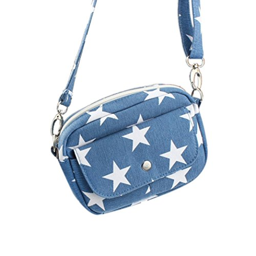 Outtop Women Bags Mini Small Messenger Cross Body Handbag Shoulder Bag Purse (Light Blue) - Lite Purse
