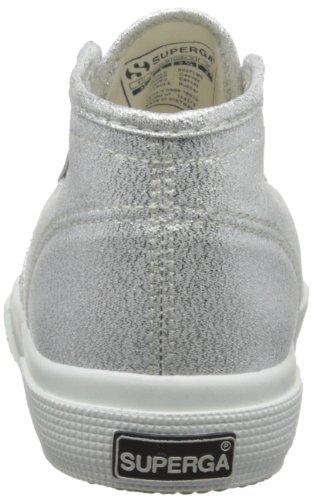 Superga 2754 Lamew - Zapatillas de lona para mujer Plateado