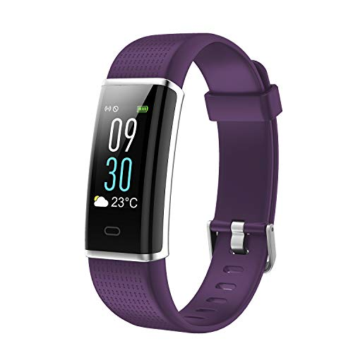 ESOLOM Fitness Tracker, Activity Tracker with Heart Rate/Sleep Monitor, Step/Calorie Counter, Color Screen Sports Watch for Kids Women Men, IP73 Waterproof Smart Wristband for Android&iOS Phone