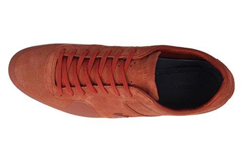 Lacoste, Scarpe stringate uomo Arancione arancione