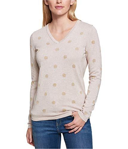 - Tommy Hilfiger Womens Knit Metallic Pullover Sweater Beige L