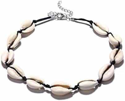 Edary Handmade Shells Choker Boho Clavicle Necklace for Women and Girls