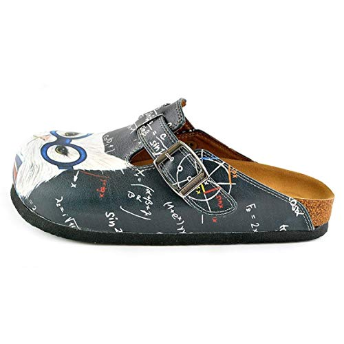 WCAL343 Cat Clogs Gray White amp; 1xW8qYW0
