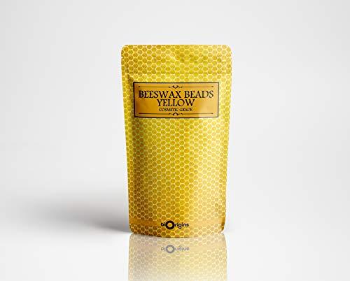 Beeswax Beads Yellow - Cosmetic Grade - 100g