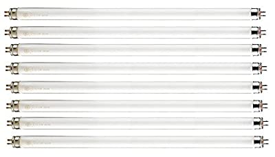 "Pack of 8 F14T5/841 14 watt 22.125"" Straight F14 T5 Mini Bi-Pin (G5) Base, 4,100K Cool White Octron Fluorescent Tube Light Bulb"