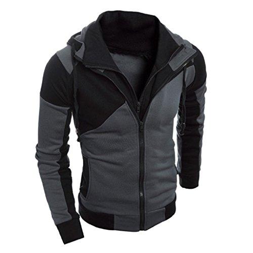 Costume Male National Europe (Trendy Outwear,Laimeng Men Retro Long Sleeve Hooded Hoodie Sweatshirt Jacket Coat Outwear (L,)