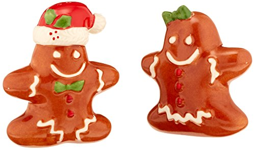 Lenox Gingerbread Couple Salt and Pepper Shakers