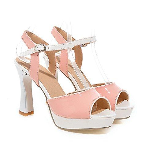 Charm Foot Womens Platform High Heel Peep Toe Dress Sandal Pink qM4zb9l