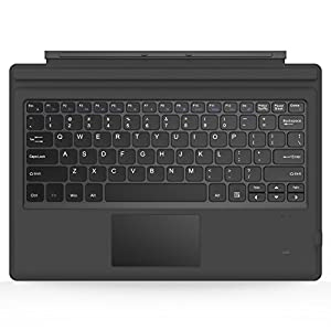 MoKo Microsoft Surface Pro 6 / Surface Pro 5 (Pro 2017) / Pro 4 / Pro 3 Type Cover, Lightweight Slim Wireless Bluetooth Keyboard with Two Button Trackpad and Built-in Rechargeable Battery, Gray