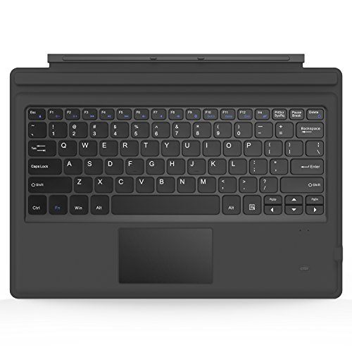 MoKo Microsoft Surface Pro 6 / Surface Pro 5 (Pro 2017) / Pro 4 / Pro 3 Type Cover, Lightweight Slim Wireless Bluetooth Keyboard with Two Button Trackpad and Built-in Rechargeable Battery, Gray (Surface Pro 3 Keyboard Type)