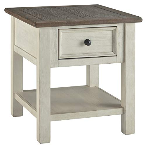 2 Tone Room - Ashley Furniture Signature Design - Bolanburg Rectangularside Table, Two-Tone
