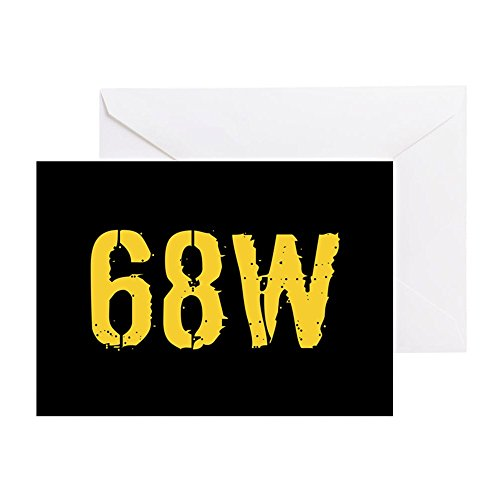 (CafePress U.S. Army: 68W Combat Medic (Black & Greeting Card, Note Card, Birthday Card, Blank Inside Matte)