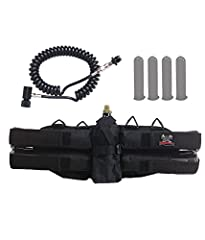 Up your paintball game with the Maddog 4+1 Harness Package from Zephyr Sports. This kit starts with the comfortable, adjustable 4+1 paintball harness that holds four pods and one bottle. It also comes with four 140-round pods (color may vary)...