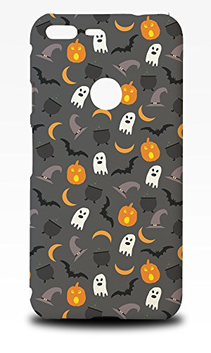 Foxercase Designs Halloween Pumpkin Ghosts Pattern Phone Case Cover for Google Pixel XL (5.5-Inch)