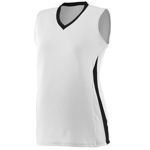 Sleeveless 3-Color Softball Girls/Womens V-neck Collar Cool-Base Wicking Ladies Fit Jersey/Uniform (Sleeveless Uniform Baseball)
