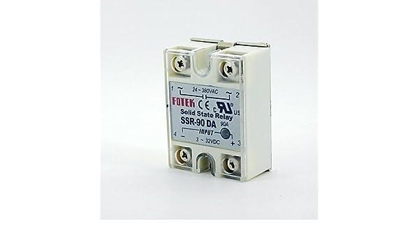 DZXGJ® salida Fotek 24v-380v 90a ssr-90 da relé de estado sólido ...