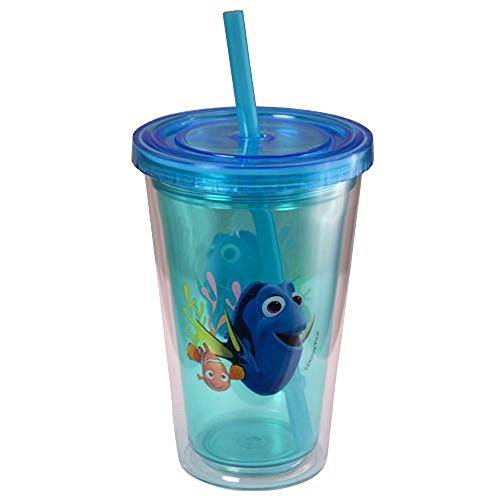 UPD Zak Designs Finding Dory Double Wall 12 oz Tumbler with Straw & Lid Featuring Dory & -
