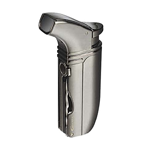 VECTOR KGM Arsenal Double Jet Torch Lighter (Gunmetal Satin) by VECTOR
