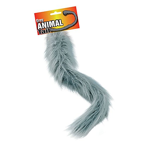 Bristol Novelty BA556 Animal Tail, Grey, One Size -