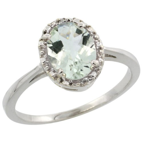 green amethyst and diamond ring - 9