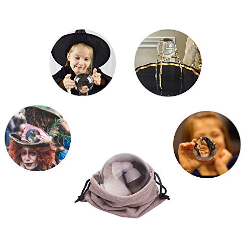 JIHUI Crystal Ball Photography Lensball, K9 Crystal Ball Clear 3-1/5'' (80mm) with Crystal Stand and Pouch for Decorative Photography Prop by JIHUI (Image #6)