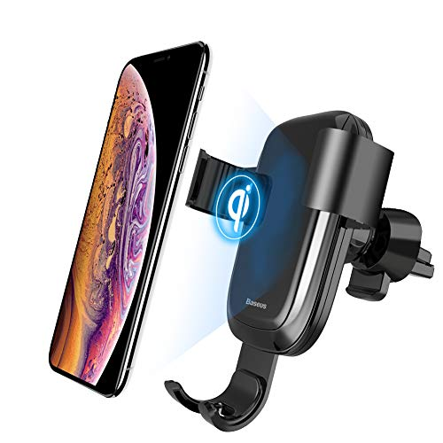 Wireless Car Charger, Baseus 10W Wireless Charger Gravity Car Phone Holder Air Vent Mount Compatible with Qi Enabled Wireless Cellphones